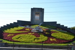 Niagara's Floral clock design is changed twice a year. this design was in use sept 2018