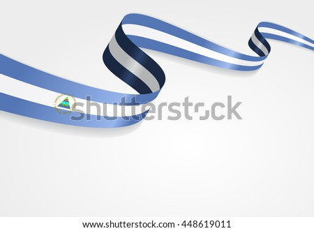 Nicaraguan flag background. Raster version.
