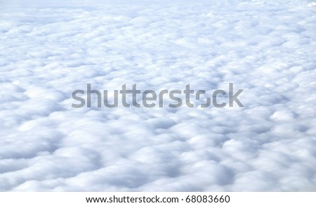 Nice abstract photo of a overcast sky seen from above