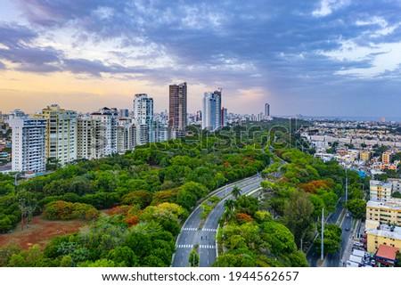 Nice afternoon in the Mirador Sur park in Santo Domingo, Dominican Republic Stockfoto ©