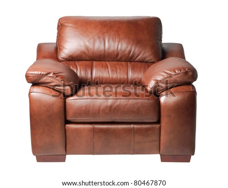 Nice and luxury leather armchair fit your living room an image isolated