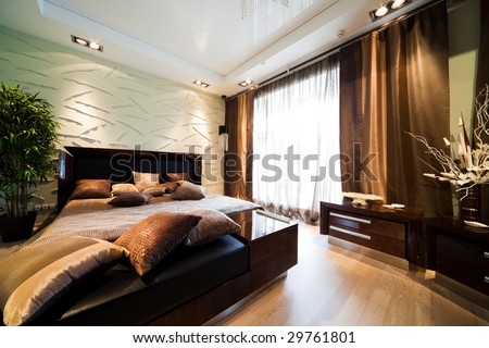nice and wide bed in modern flat