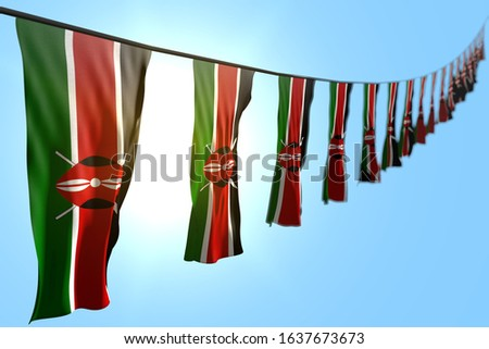 nice any feast flag 3d illustration