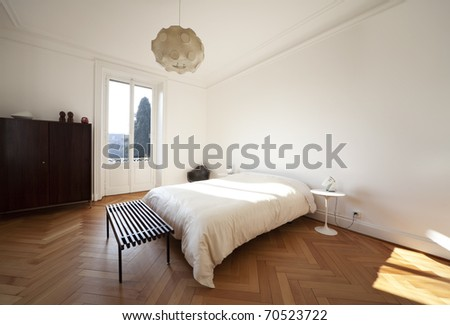 nice apartment refitted, bedroom furniture retro