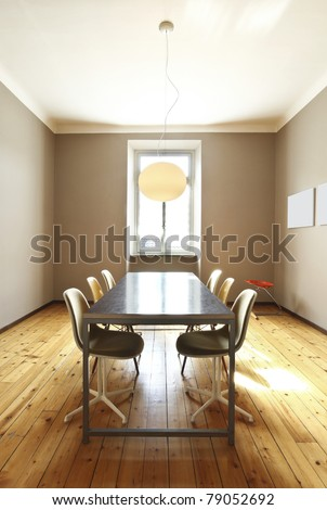 nice apartment refitted, dining room in retro style