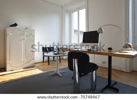 nice apartment refitted, studio room with furniture retro