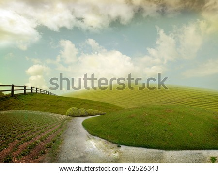 Nice autum landscape for background