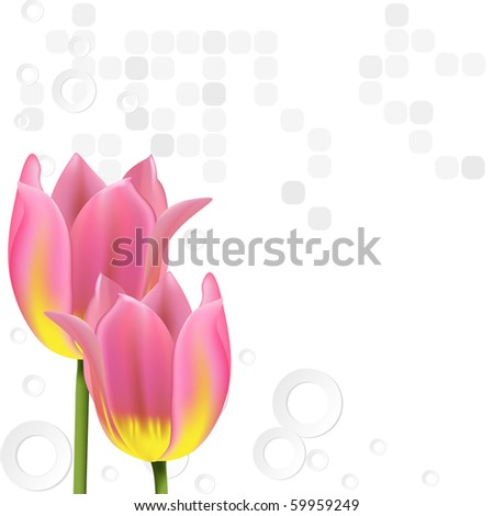 Nice background with tulips.