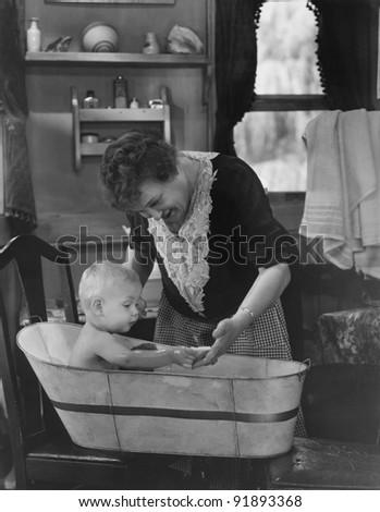 nice bath for baby