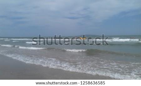 nice beach landscape