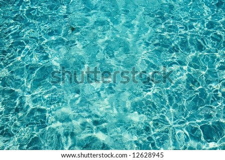 Nice blue water ripples in a sunny day