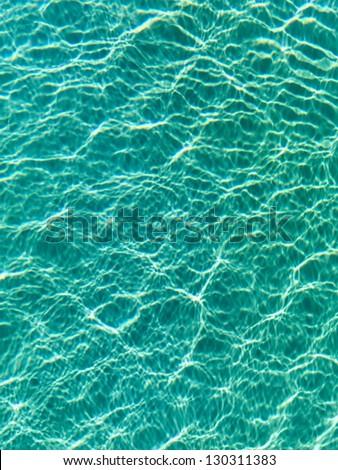 Nice blue water ripples in the Indian Ocean