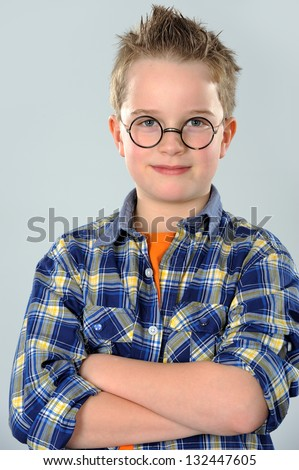 nice boy with glasses