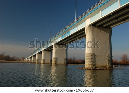 Nice bridge on Vistula river, Poland