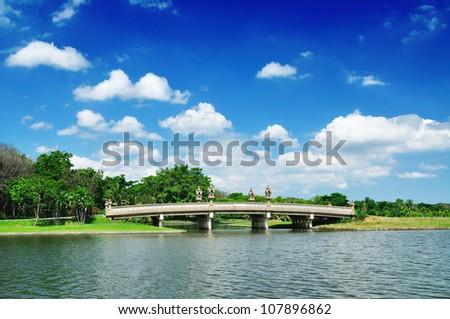 Nice bridge under the blue sky
