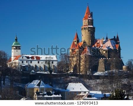 Nice castle Bouzov from Czech republic