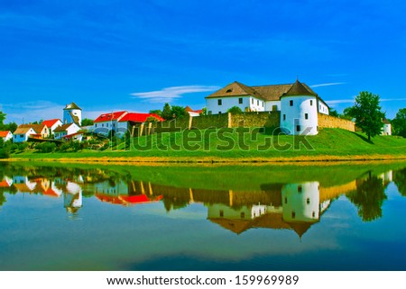 nice castle with water reflection
