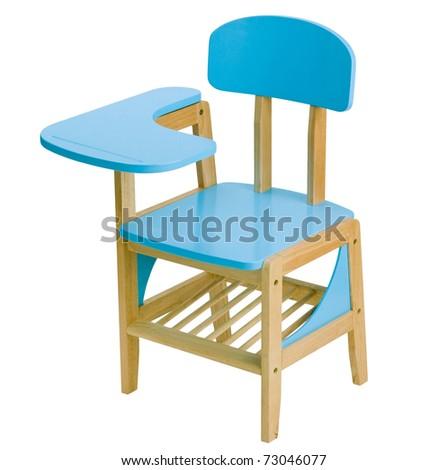 Nice children blue chair in the kindergarten school an image isolated