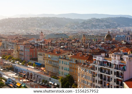 Nice cityscape, Nice town centre, Cote d'Azur, French Riviera