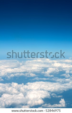 nice clouds background between Africa and Europe