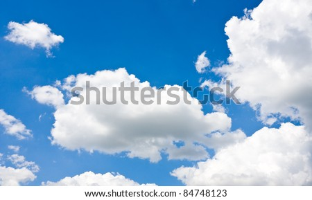 nice clouds in blue sky