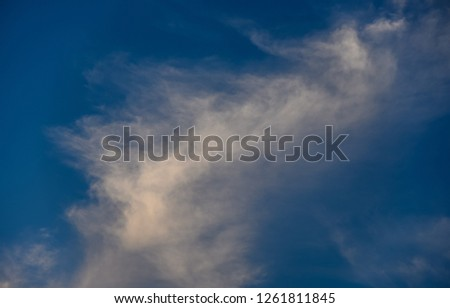 Nice clouds in blue sky background #1261811845