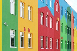 nice colorful house a kindergarten for children