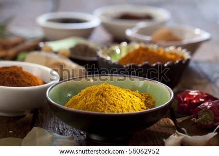 Nice composition of different spices