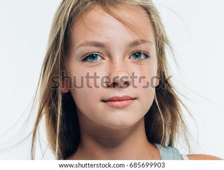 Image of: Sweet Nice Cute Model Girl Teenage With Beautiful Healthy Freckle Skin And Long Blonde Hair Natural Portrait Panky Postcom Nice Cute Model Girl Teenage With Beautiful Healthy Freckle Skin And