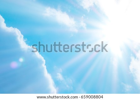 Nice day sunlight with blue sky