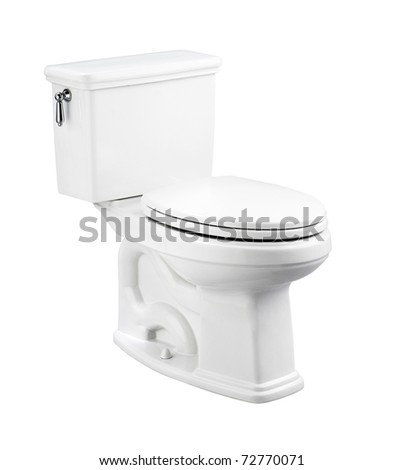 NIce design of the toilet bowl isolated on white background