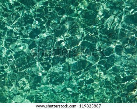 nice emerald water ripples in...
