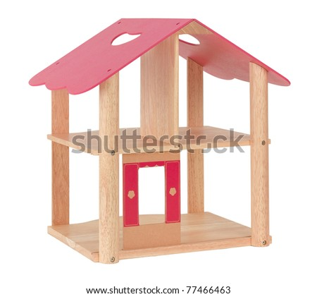 Nice empty dollhouse your children could fill the miniature furniture into free spaces