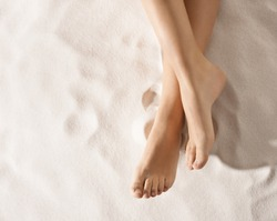 nice feet on the sand