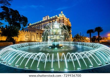 Nice fountain in Baku Azerbaijan