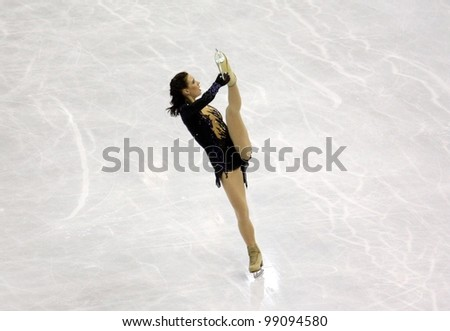 NICE, FRANCE - MARCH 31: ISU World Figure Skating Championships in Nice, France, March 31, 2012. Alena Leonova (RUS), silver medal, during the Free Program