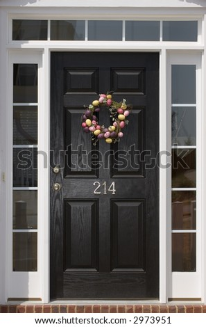 Nice front door of house from exterior view