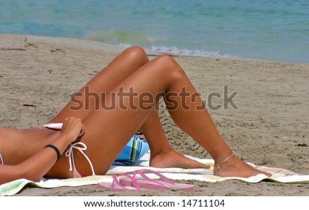 между ног фото на пляже