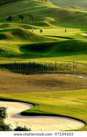 Nice golf place with nice green