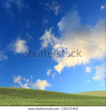 Nice grass with clear sky for adv or others purpose use