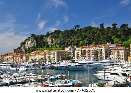 Nice habor, French Riviera - stock photo