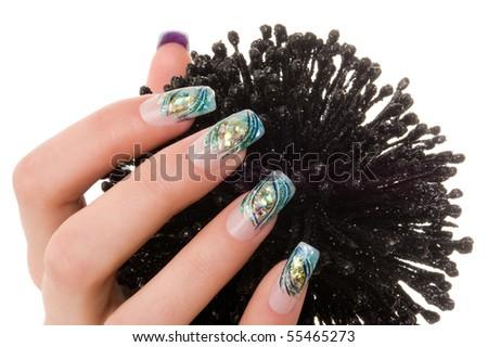 Nice hand with nail art