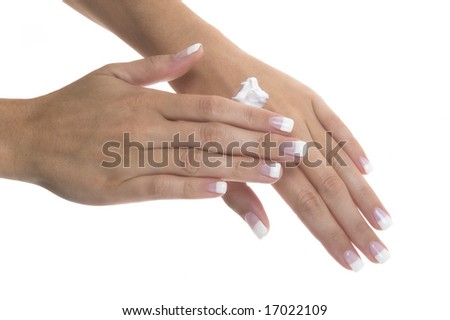 Nice hands with cream