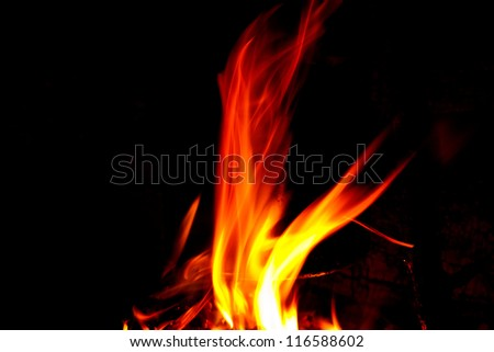 nice hot flame of fire