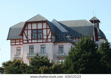 nice house De Haan Belgium - stock photo