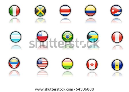 Nice icons of american flags