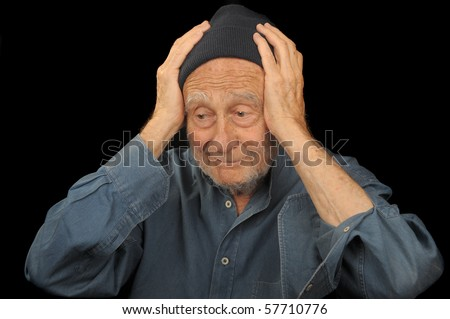 Nice Image of an old man that is distressed