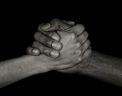Nice image of the international symbol of friends and handshake