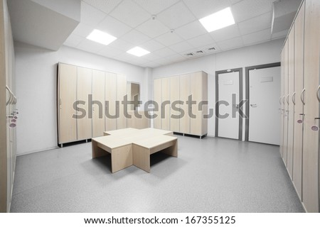nice Interior of changing room in gym