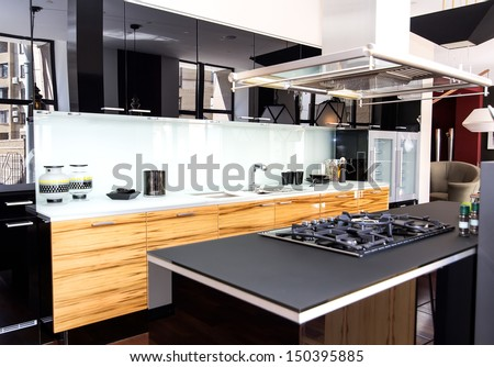 nice interior with furniture and kitchen appliances